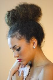 """create messy """"natural"""" top-knot"""