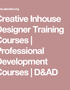 Creative inhouse designer training courses professional development   ad also rh pinterest