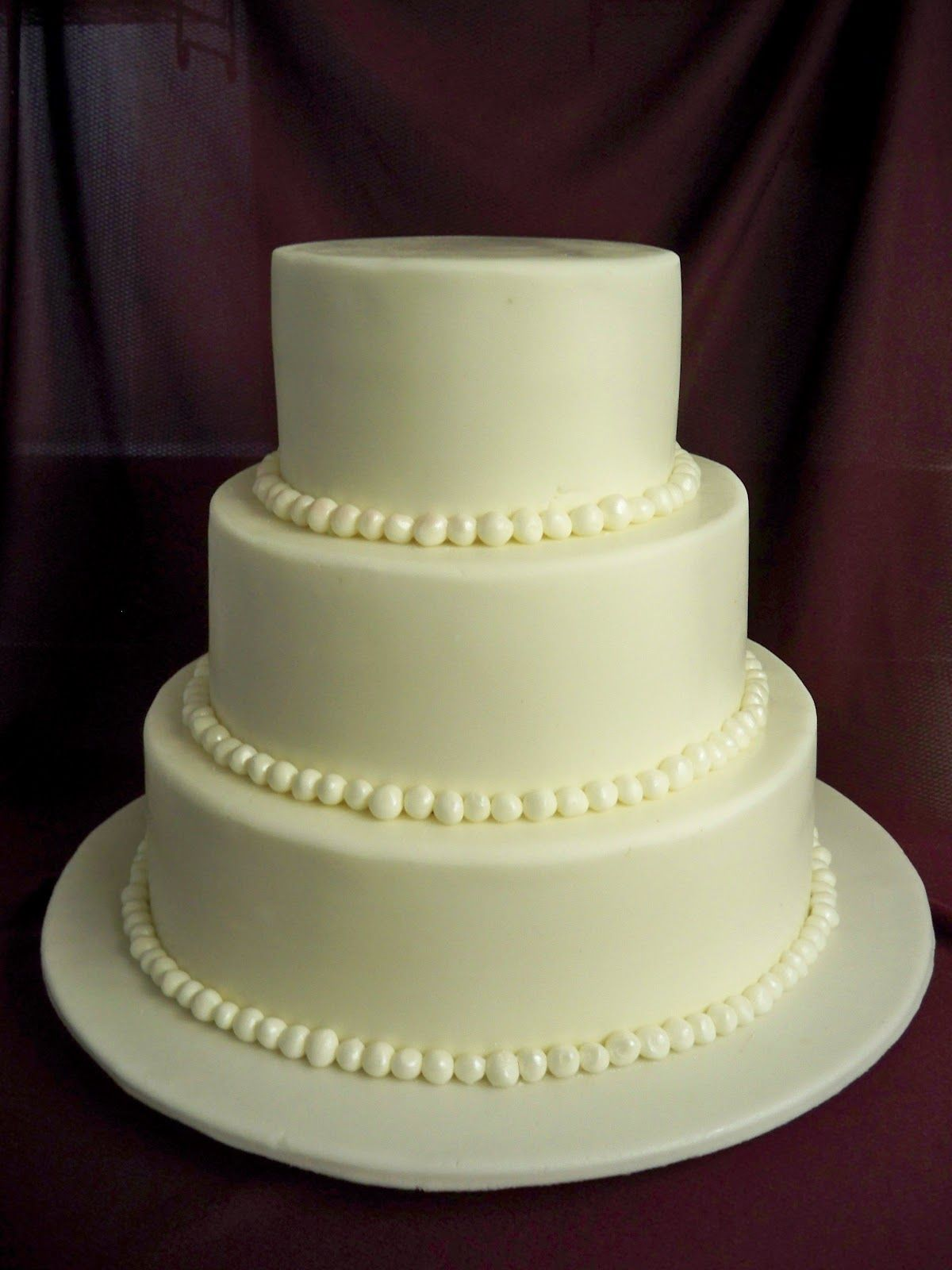 Four Separated Tier Wedding Cakes