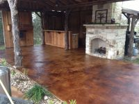 Patio Deck Concrete Staining Beauteous Attractive Stained