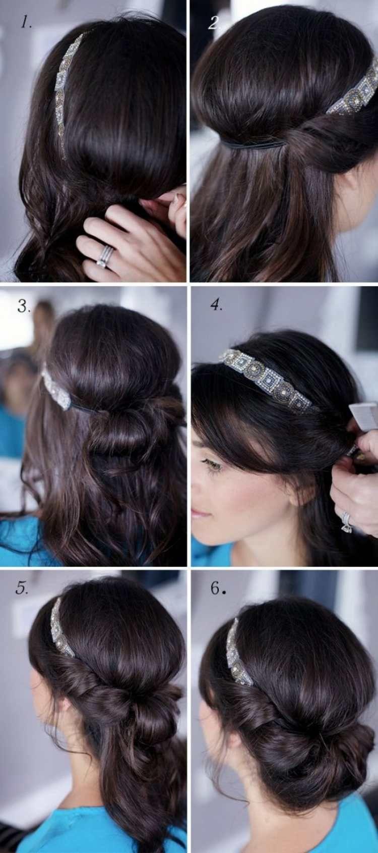 Anleitung Für Eine Elegante Frisur Mit Haarband Haare
