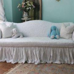 Denim Sectional Sofa Slipcovers Flex Steel Table Shabby Chic White Decorating Diy Slipcover Drop ...