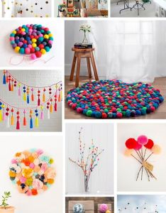 Decorating with pompoms pompones para decorar diy home decor ideas also decora con decoracion pinterest manualidades craft rh