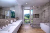 Urban Farmhouse Master Bathroom. Shower and backsplash ...