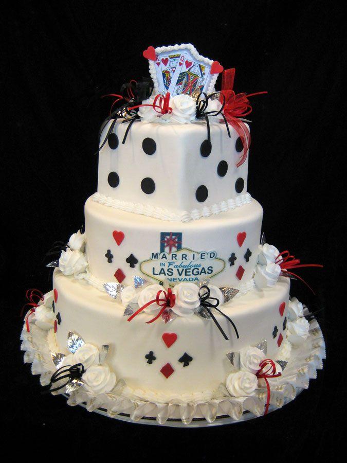 Las Vegas Themed Wedding Cakes  Freeds Bakery  Freeds