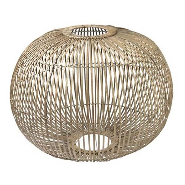 Grote bamboo hanglamp voor boven de eettafel maar kan ook
