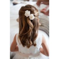 Junior Bridesmaid Hairstyles liked on Polyvore
