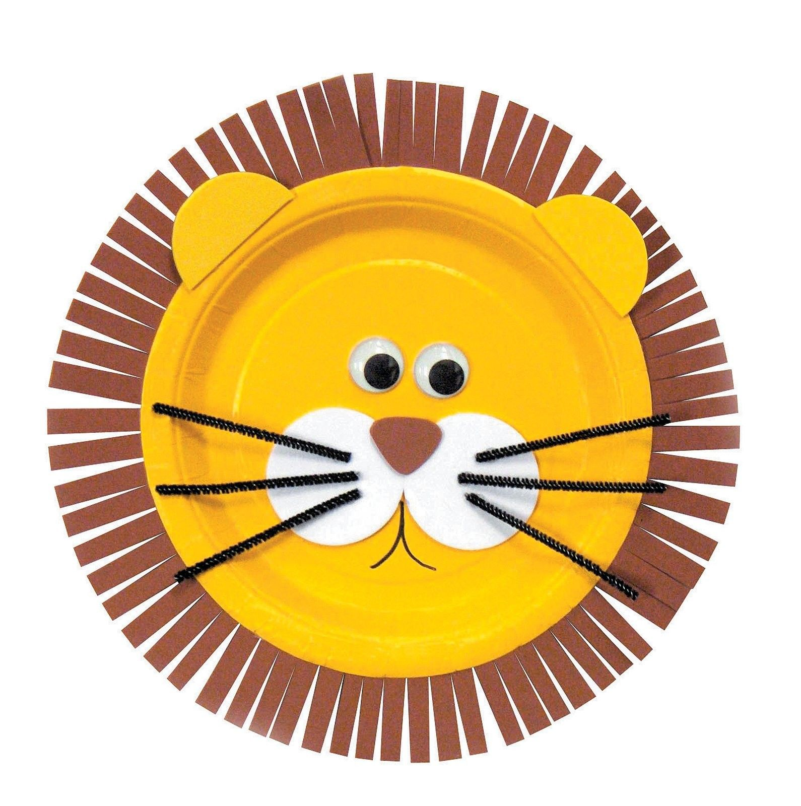 Use This Lion Craft Paper Plate And Glue Another Yellow