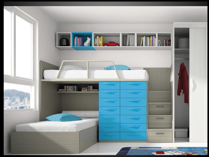 dormitorio juvenil con literas  Buscar con Google  Casa