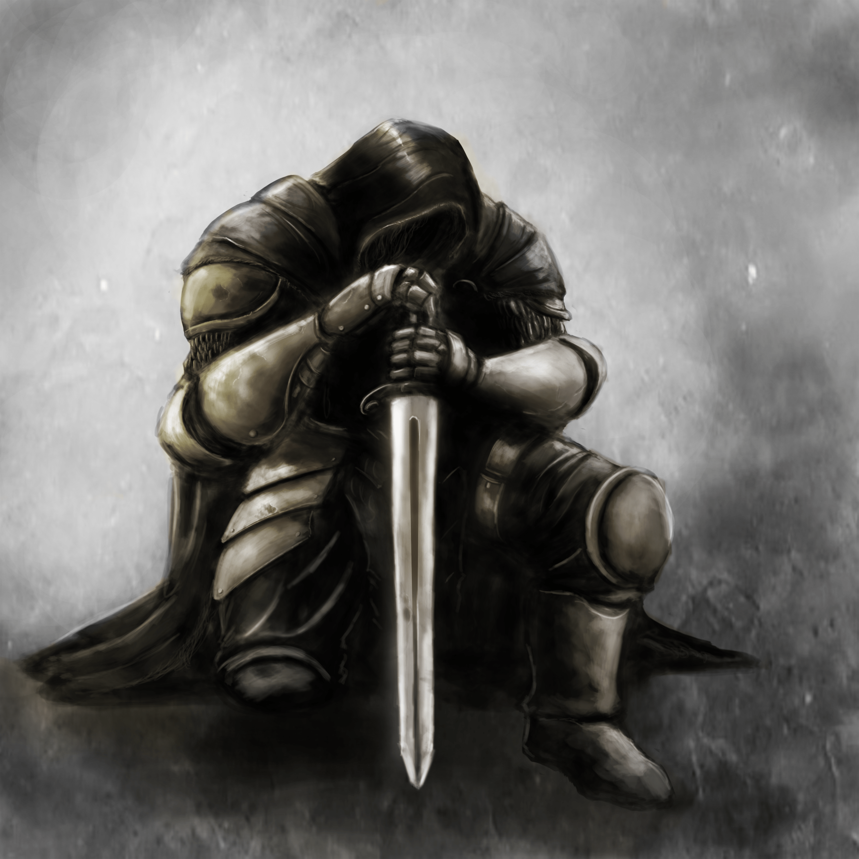 Kneeling Knight For The King