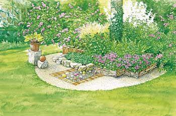 Charmante Schattenbeete Garten