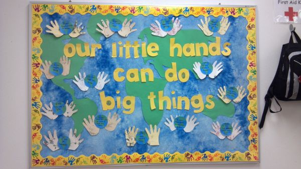 "Title Of Bulletin Board "" Little Hands"