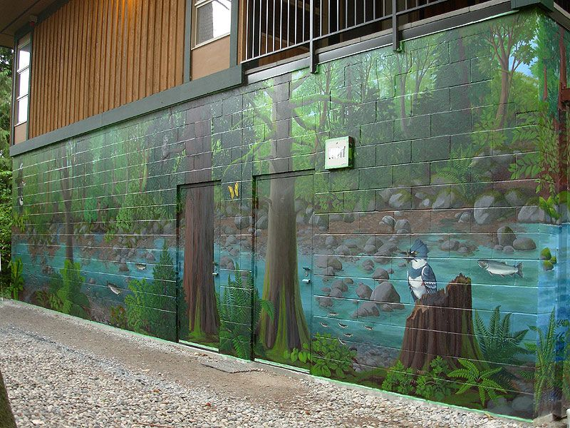 Outdoor Wall Murals MURALS WALL PAINTING CUSTOM MURALS