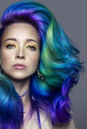 green purple dyed hair daryna barykina