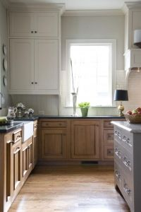 white+upper+cabinets+wood+lower+|+Upper+Cabinets