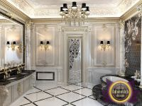 The bathroom luxurious interior in a classic style from ...