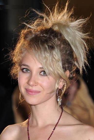 Punky Hair Young Cute Actress Juno Temple's Punky Updo Hairstyle