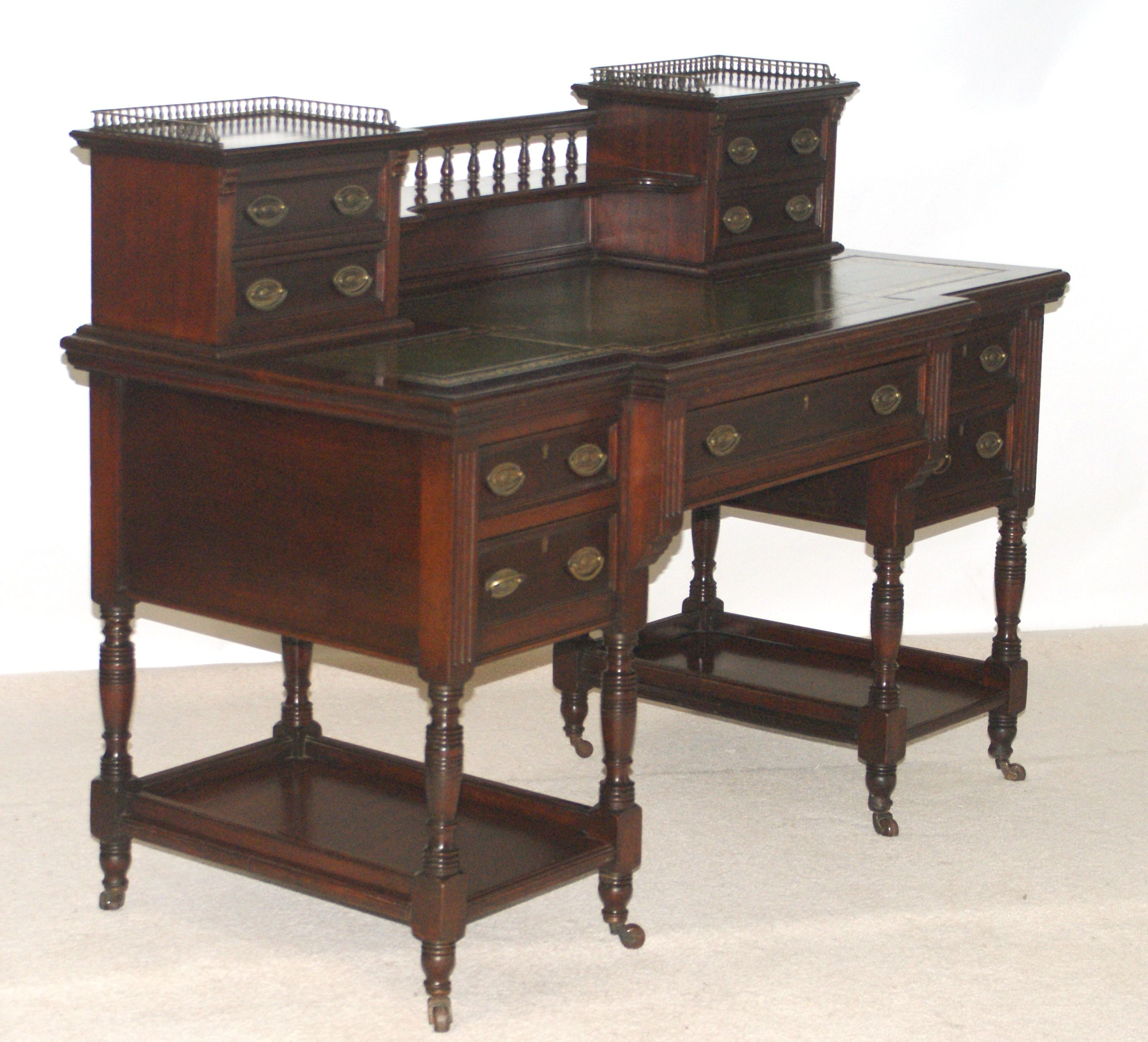 Late Victorian writing desk by Maple and Co