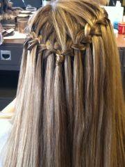 prom braid straight hair