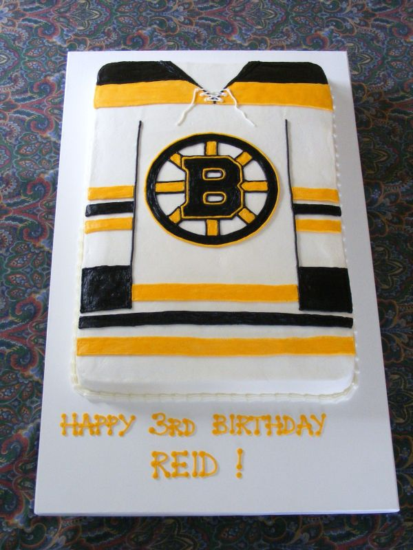 Bruins Hockey Birthday Cakes