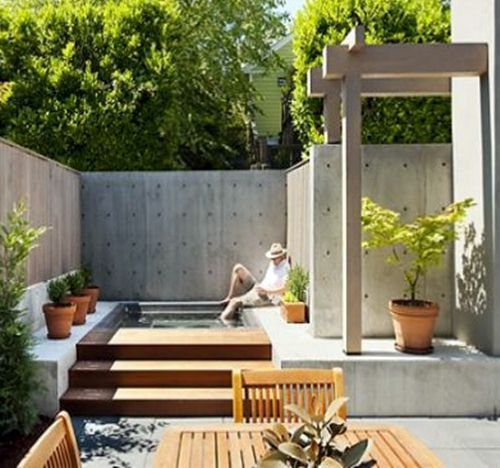 Fantastic Minimalist Outdoor Space Love A Plunge Pool