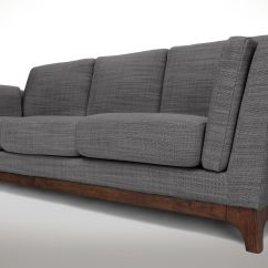 Gray Modern Sofa Set Custom Cover 3 Seater With Solid Wood Legs Article Ceni
