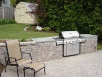Outdoor Kitchen Built in free standing grill ...