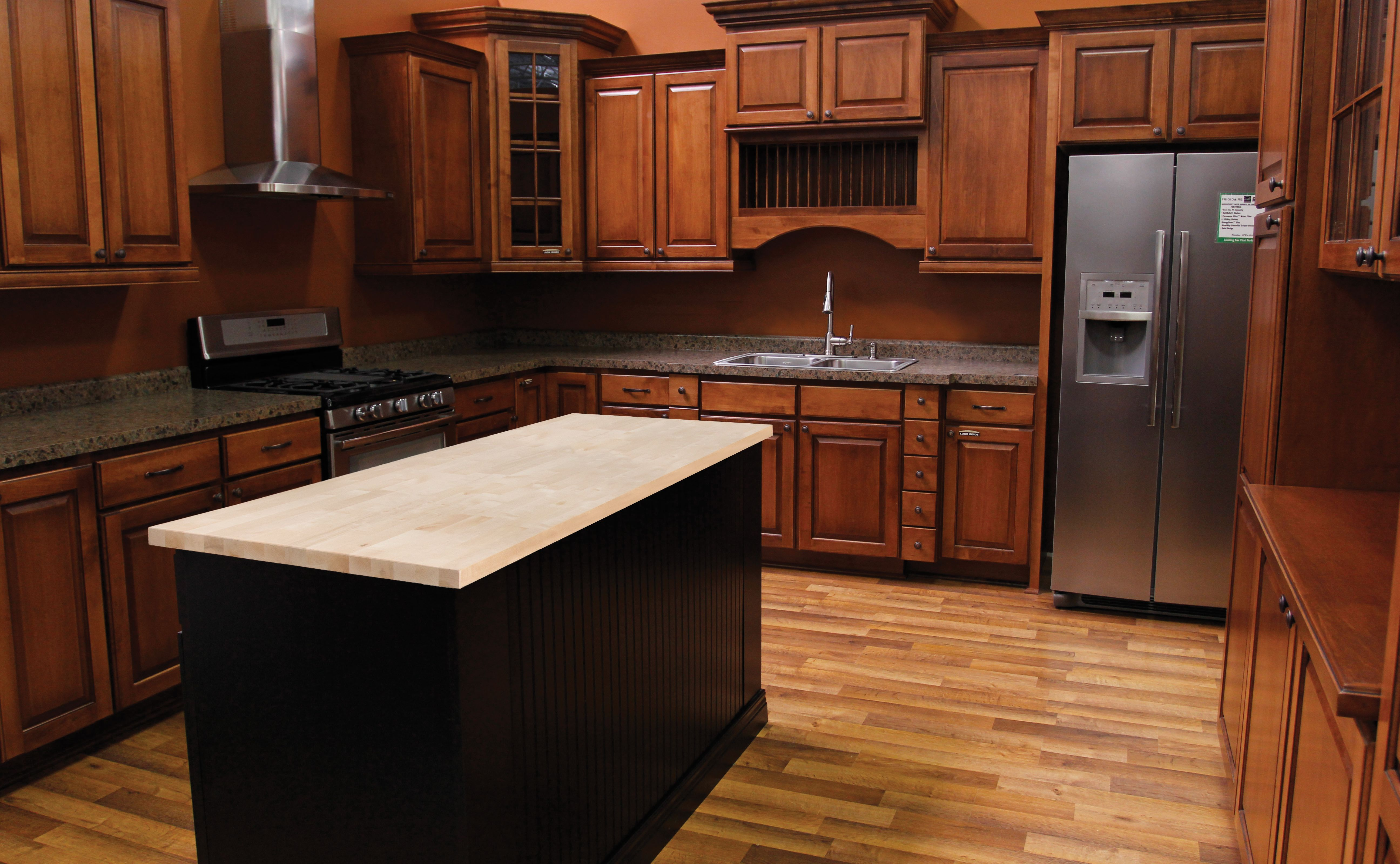 menards kitchen countertops c a butcher block top makes great countertop for