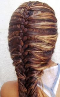 cute outside french braid! | Hairstyles | Pinterest ...