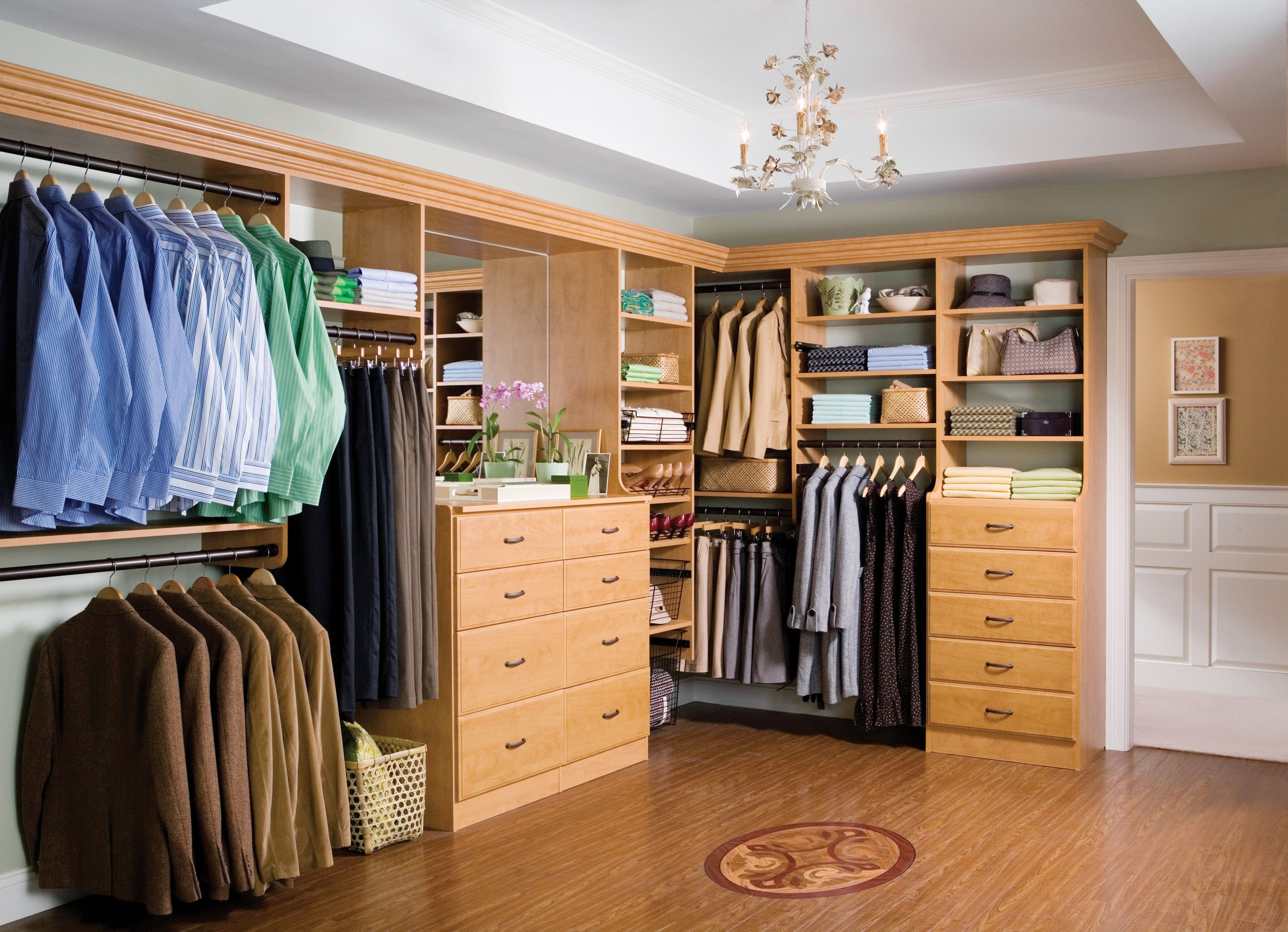 Appealing Large Walk In Closet Designs With Calm Valet Hanger Rods