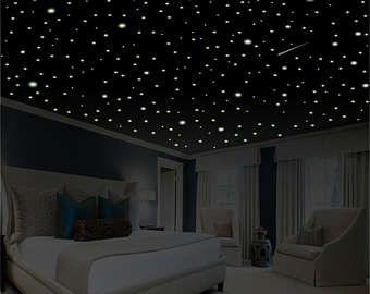 Romantic bedroom decor star wall decal glow in the dark also easy kids rh pinterest