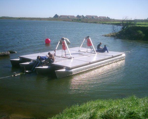 Folding Pontoon Boat