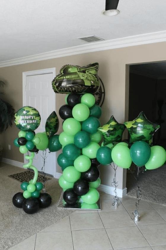 Army Camouflage Balloons Wwwbogeysbouncerscom Baby