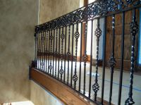 Wrought Iron Railing To Give Your Stairs Unique Look: Tile ...