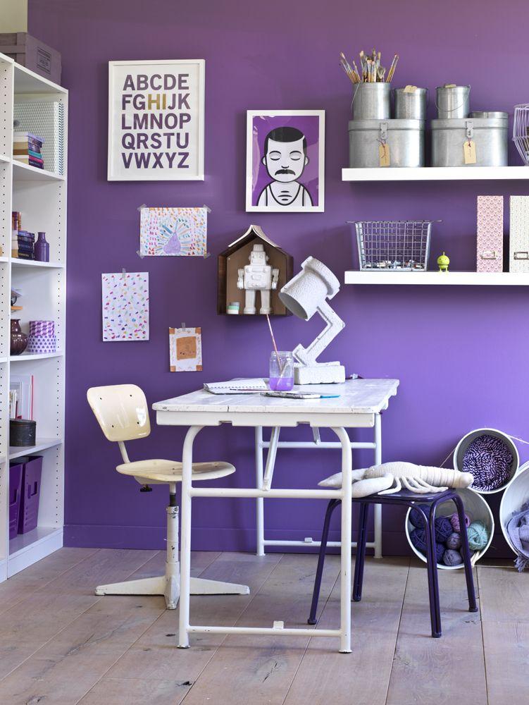 paarse muur  wand  Paars  Purple  Pinterest  Muur