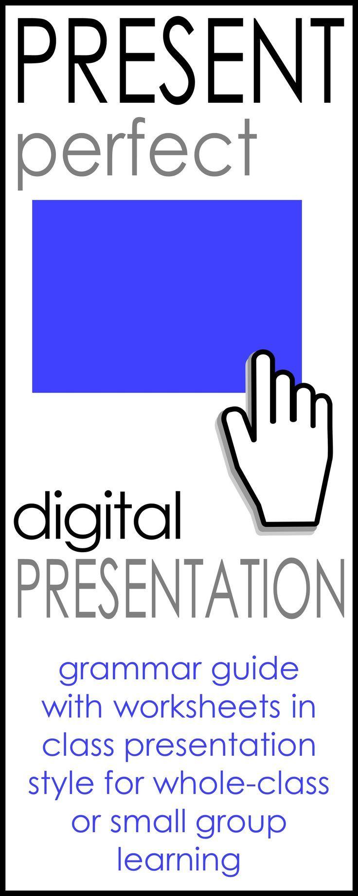 Present Perfect Digit L Present Ti W Ksheets Students Nd