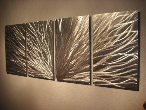 Metal wall art abstract contemporary modern decor sculpture radiance also rh pinterest