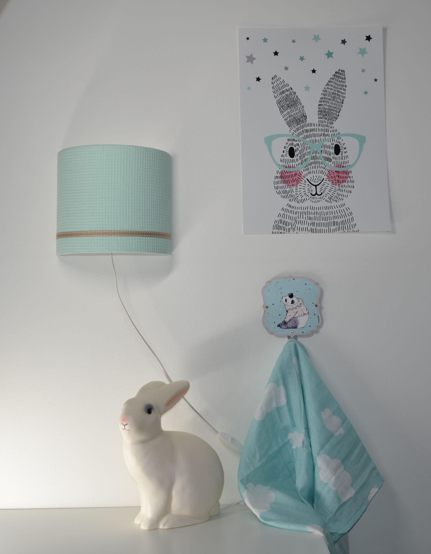 Poster Konijn Babykamer  cartoonboxinfo