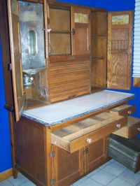 Bakers Cabinet with Flour Bin | Antique Oak Hoosier ...