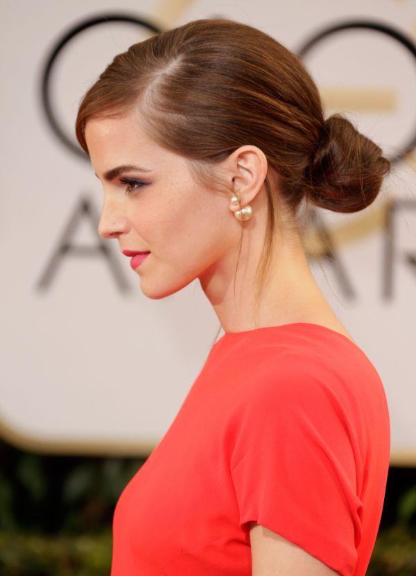 Emma Watson Low Bun