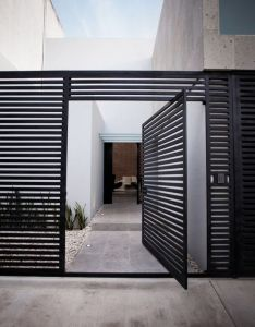 Awesome volume house of cereza by warm architects in cancun beautiful home design exterior with modern welcome gate used black door ideas also this bridge pinterest gardens and front rh