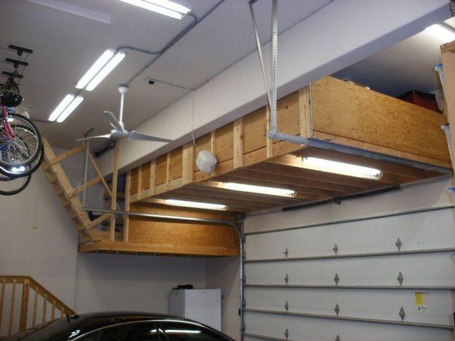 Build a 56 645 garage ceiling storage habitation design