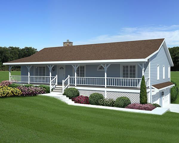 Mobile Home Porch Designs Elevation Of Country Hillside