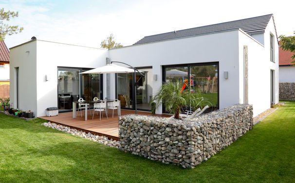 Gabionen Kann Man Auch Als Tolle Terrassen Abtrennung Im Garten