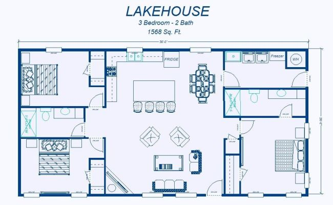 2 Bedroom House Simple Plan David S Ready Built Homes