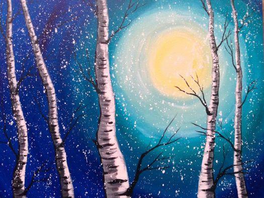 Acrylic Painting For Beginners Easy Birch Trees Art Tutorial Lovewinterart Full Https