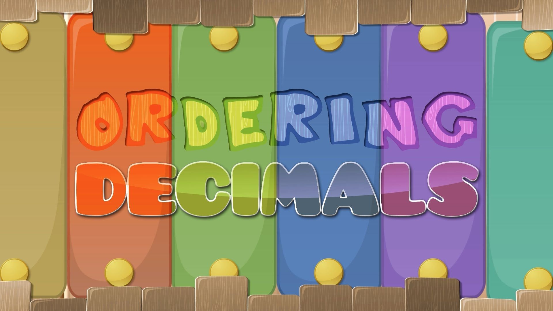 Ordering Decimals Activities Comparing Decimals
