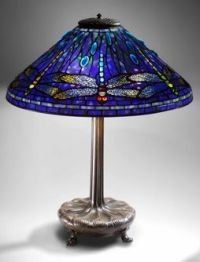 Tiffany blue dragonfly lamp (1910) - This lamp is very ...
