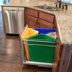 Cheap Kitchen Trash Can Build An Outdoor Recycling System For The Home Pinterest