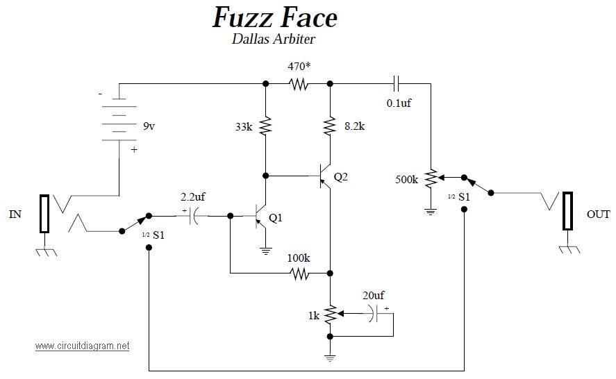 Fuzz Face Guitar Effects Pedals Schematics Electronic